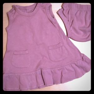 L'ovedbaby ruffle snap tank dress and bloomers